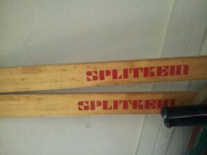 antique wooden skiis in great cond with poles Belleville Belleville Area image 2
