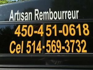 REMBOURRAGE AUTOMOBILE & TOP CONVERTIBLE 514-569-3732