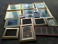 Picture and photo frames of various sizes