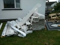 LARGE QUANTITY OF VENTILATION PIPES + FITTINGS