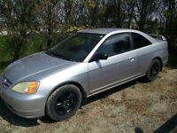 Honda Civic Coupe (2 door) $3,000 LOW KMS willing to trade!