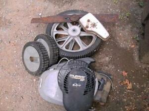 cleaning up the shed,mower parts (cheap)