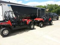 2 RZR 800 4 seat side by sides for sale and H&H Trailer