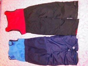 BROWN AND BLUE KIDS SNOW PANTS-NEW LIKE-PRICE REDUCED