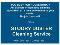 Domestic cleaner . all aspects of household cleaning done. £10 /hr
