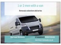 Man and van 1 OR 2 MEN WITH A VAN ANYTIME ANYWHERE FROM £10 EFFICIENT AND RELIABLE 24/7 SERVICE