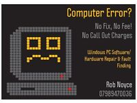 Mobile PC & Laptop Repair (No Fix, No Fee & No Call Out Charges!)
