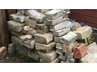 Large pile of stones and bricks
