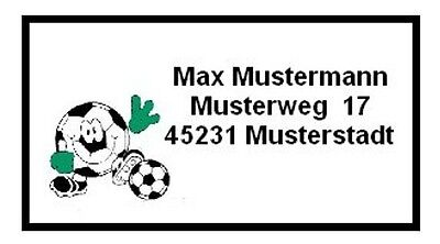 FED088#  40 Adressetiketten  Fußball  Schule  Schultüte Adresse Aufkleber Heft