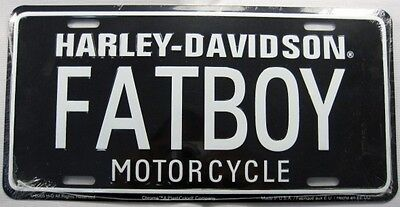 HARLEY DAVIDSON METAL LICENSE PLATE FATBOY MOTORCYCLE SIGN NEW L032