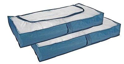 2 Stück Unterbettkommode Kommode Unterbett Aufbewahrung Bett Box Unterbettbox