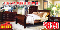 Louis 7pc Queen Bedroom Set Now On Sale for $879 Tax Included!
