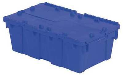 (Attached Lid Container, Blue ,Orbis, FP075 Blue Shipping Moving Tool Storage Box)