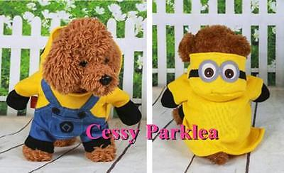 Pet Dog Minion Dave Despicable Me Book Week Party Costumes XS-XXL ()