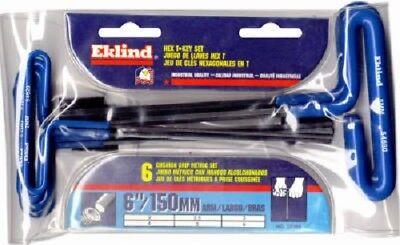 - Eklind 55166 Metric Cushion Grip T-Handle Hex Key Set, 6-Piece