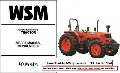 Kubota Tractor Service Manual M6800 M6800s M8200 M9000 M 9000 8200 6800