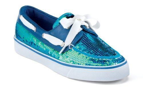 Sperry Sequin Boat Shoes Womens
