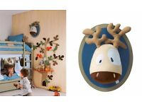 Vertbaudet moose wall trophy head nursery decoration childrens room