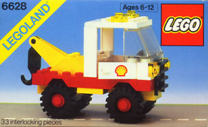 Lego 6628-1 Town: Classic Town: Gas Station: Shell Tow Truck