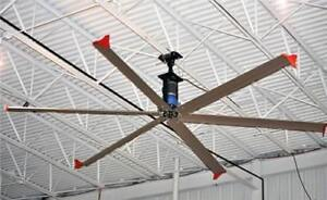 24' HVLS Fans - Move Massive amount of Air to keep your building Cool!