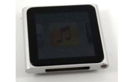 Apple iPod nano 6th Gen Graphite 8GB Silver Excellent A+ Cord