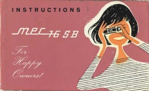 Mec 16 S B Subminiature Instruction Manual original