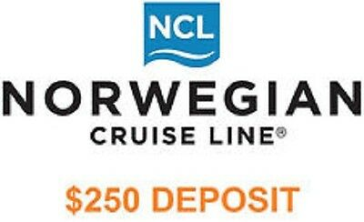 NCL NORWEGIAN CRUISE LINE $250 DEPOSIT / VOUCHER / CERTIFICATE March 2022