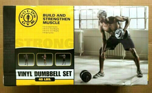 NEW Dumbbells  Gold's Gym Weight Set Workout Equipment Home