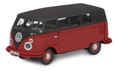 Schuco VW Volkswagen T1 Bus Bully Black Red 1:87 45 263 3700