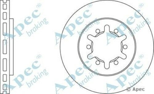 1x OE Quality Replacement Front Axle Apec Vented Brake Disc 6 Stud 260mm Single