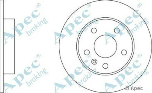 1x OE Quality Replacement Rear Axle Apec Solid Brake Disc 5 Stud 264mm - Single