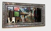 Large Glass Framed Mirror