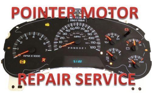 Chevy instrument cluster repair ebay for 2004 silverado stepper motor