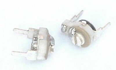 20 pcs Ceramic Trimmer Capacitors 4-30pF 450V 8mm KT4-23 Silver Plated MILITARY