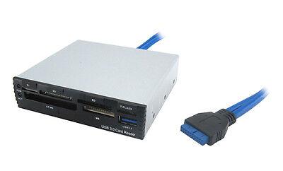 "3,5"" CardReader Writer USB 3.0 Hub intern PC Computer Kartenleser Frontpanel"