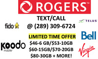 UNLIMITED ROGERS TELUS KOODO CHEAP CELL PHONE PLANS