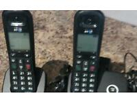 Bt dual base station with extra phone all leads ex condition