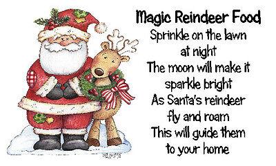 Magic Reindeer Food Stickers x 42 - Design #10- Christmas Craft & School fairs