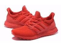 New Adidas Ultra Boost All Red Shoes - size 4 - London - £30 only