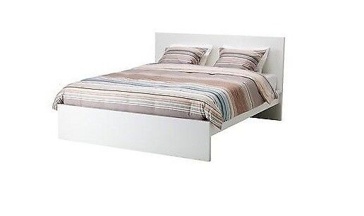IKEA MALM low bed frame (white, 140x200) | in Walthamstow, London ...