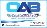 OAB Carpet Cleaning  - October Specials - On Now....