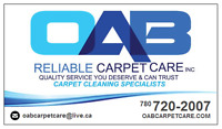 OAB Carpet Cleaning - Your Carpet Cleaning Experts - Save Today!