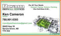 RCAM Drywall Services - Edmonton & Area Served.