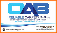 OAB Carpet Cleaning - Great Specials & Service - Call Us Today!