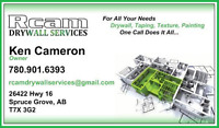 RCAM Drywall Services - Edmonton & Area Served