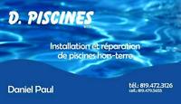 D. Piscines recherche employé pour installation de piscines