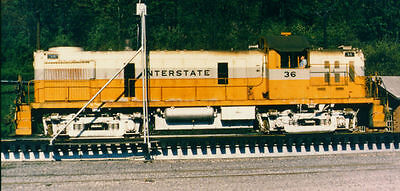 The Interstate Railroad's distinctive diesel's decals, in black, in S-scale