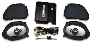 BRAND NEW HOGTUNES AMP & SPEAKER PLUG & PLAY KIT,1998-2013 HARLEY ROAD GLIDE