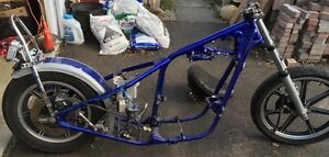 Yamaha XS650 rigid frame with title and parts