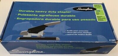 Swingline Black Durable Heavy Duty Stapler - Model 11302 - Up To 120 Pages